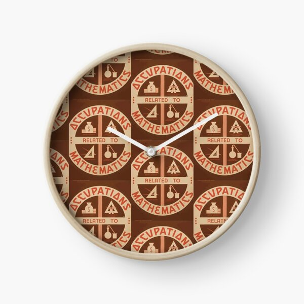 Occupations Mathematics Clock