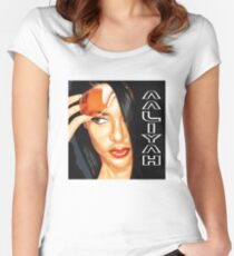 aaliyah name Fitted Scoop T-Shirt