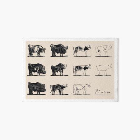 Picasso Bulls Art Board Print