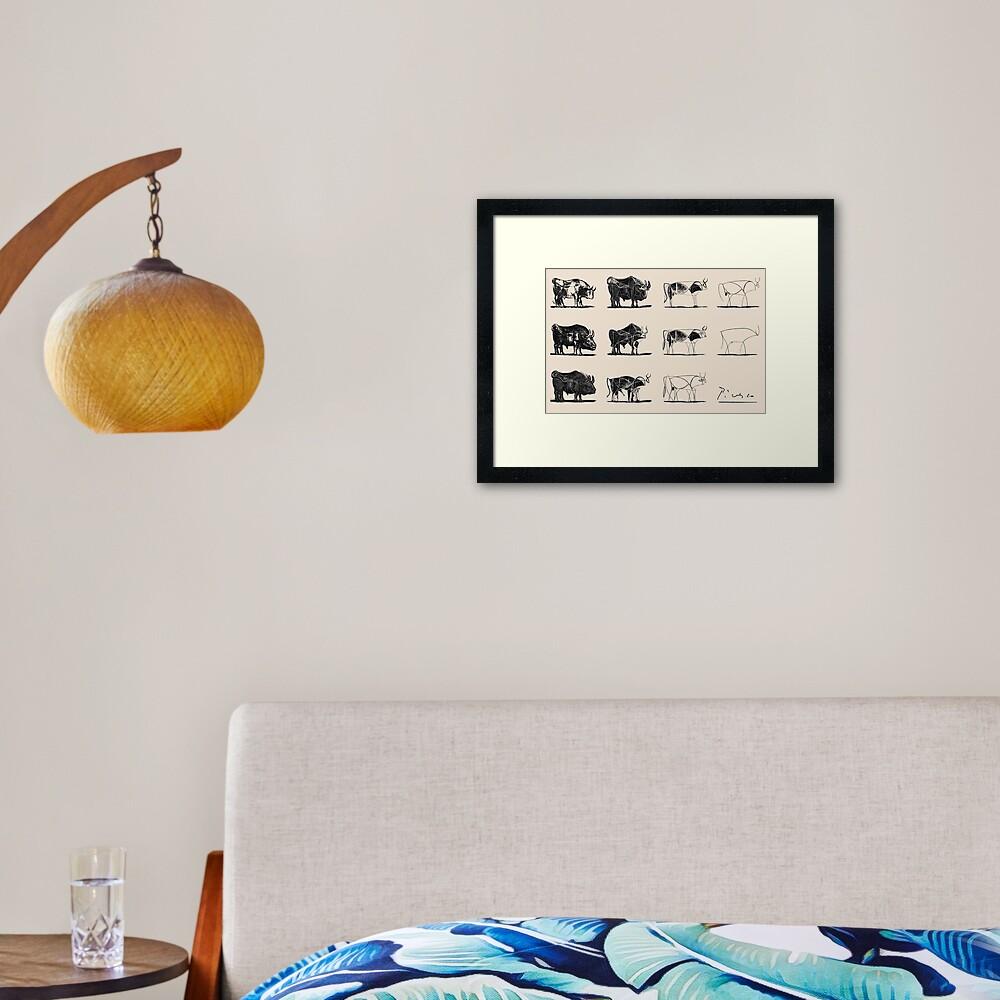 Picasso Bulls Framed Art Print