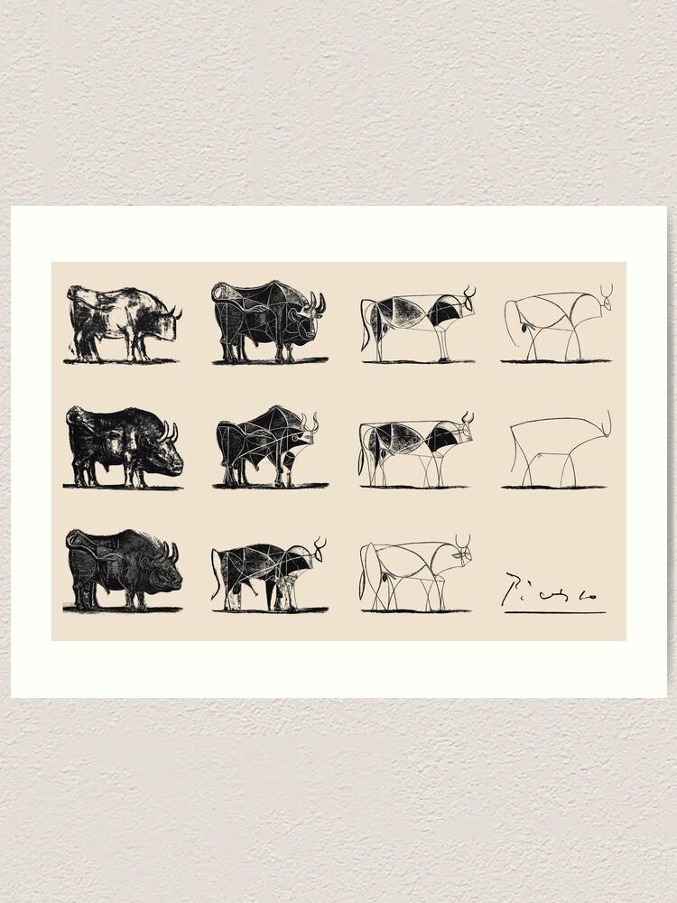 Alternate view of Picasso Bulls Art Print