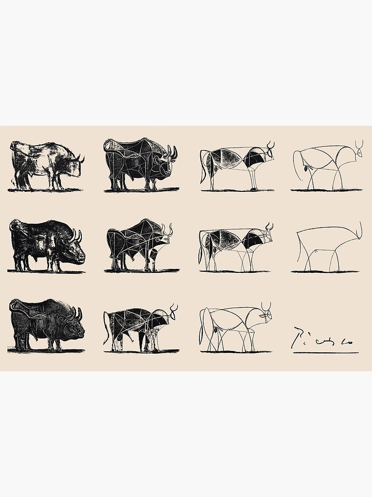 Picasso Bulls by JeromeArt