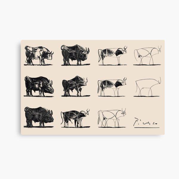 Picasso Bulls Canvas Print
