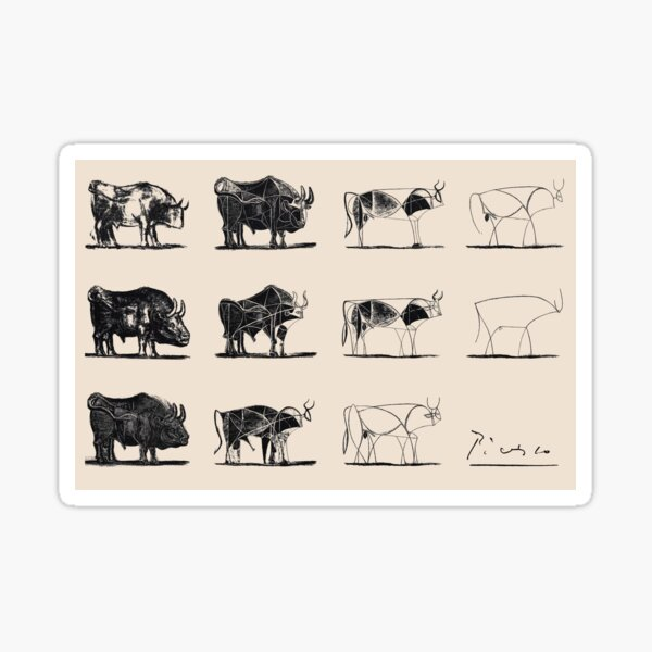 Picasso Bulls Sticker