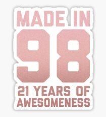 21st Birthday Gift Adult Age 21 Year Old Women Girl Daughter Sticker