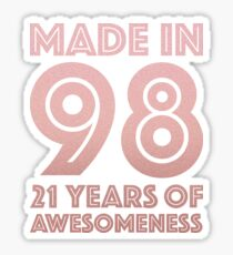 21st Birthday Gift Adult Age 21 Year Old Women Daughter Girl Sticker