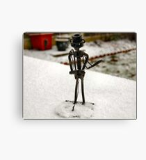 FREEZING MY NUTS OFF HERE !! Canvas Print
