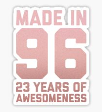 23rd Birthday Gift Adult Age 23 Year Old Women Girl Daughter Sticker