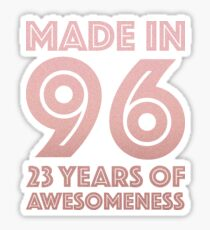 23rd Birthday Gift Adult Age 23 Year Old Women Daughter Girl Sticker