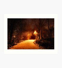 THE LANE AT NIGHT. Art Print