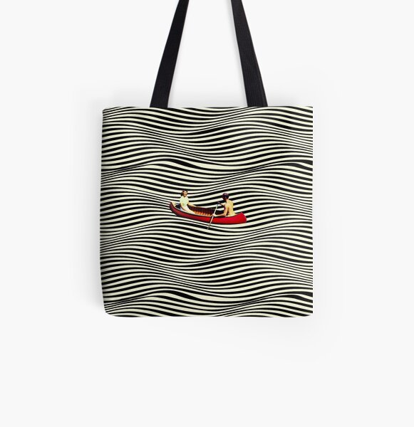 Illusionary Boat Ride All Over Print Tote Bag