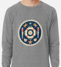 Nautical circle poster Lightweight Sweatshirt