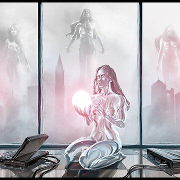 Fog Glass Robot Cityscape Complete by Sokoliwski
