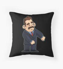 Floss Dance Businessman Throw Pillow