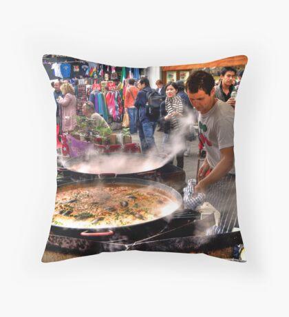 Cooking: Portabello Road, London Throw Pillow