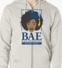 BAE- Black and Educated Master's Degree Zipped Hoodie