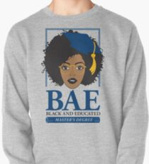 BAE- Black and Educated Master's Degree Silver Pullover Sweatshirt