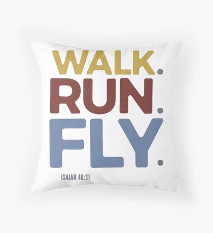 Walk. Run. Fly. - Isaiah 40:31 Floor Pillow