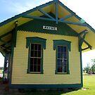Old Train Station by Vonnie Murfin