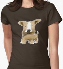chubby doodledog Womens Fitted T-Shirt