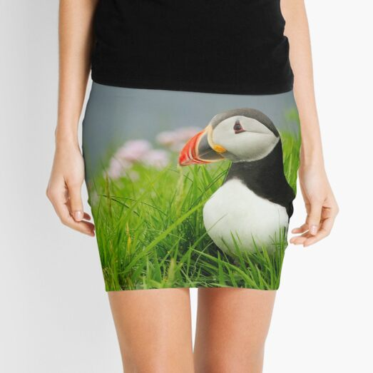 The Puffin at Sumburgh Mini Skirt