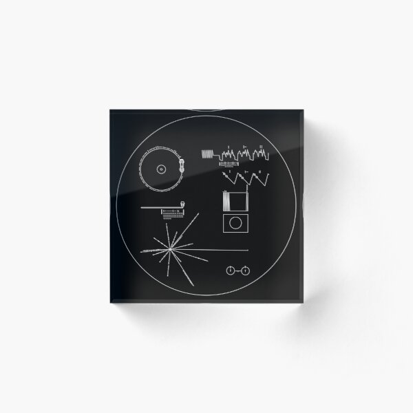 The Voyager Golden Record Acrylic Block