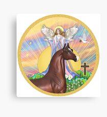 Sunrise Angel - Pferd (Kastanie) Leinwanddruck