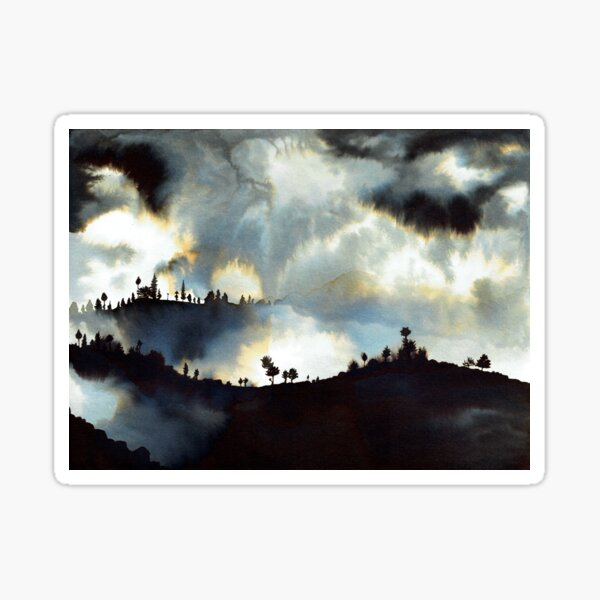 Moody Landscape 2 Sticker