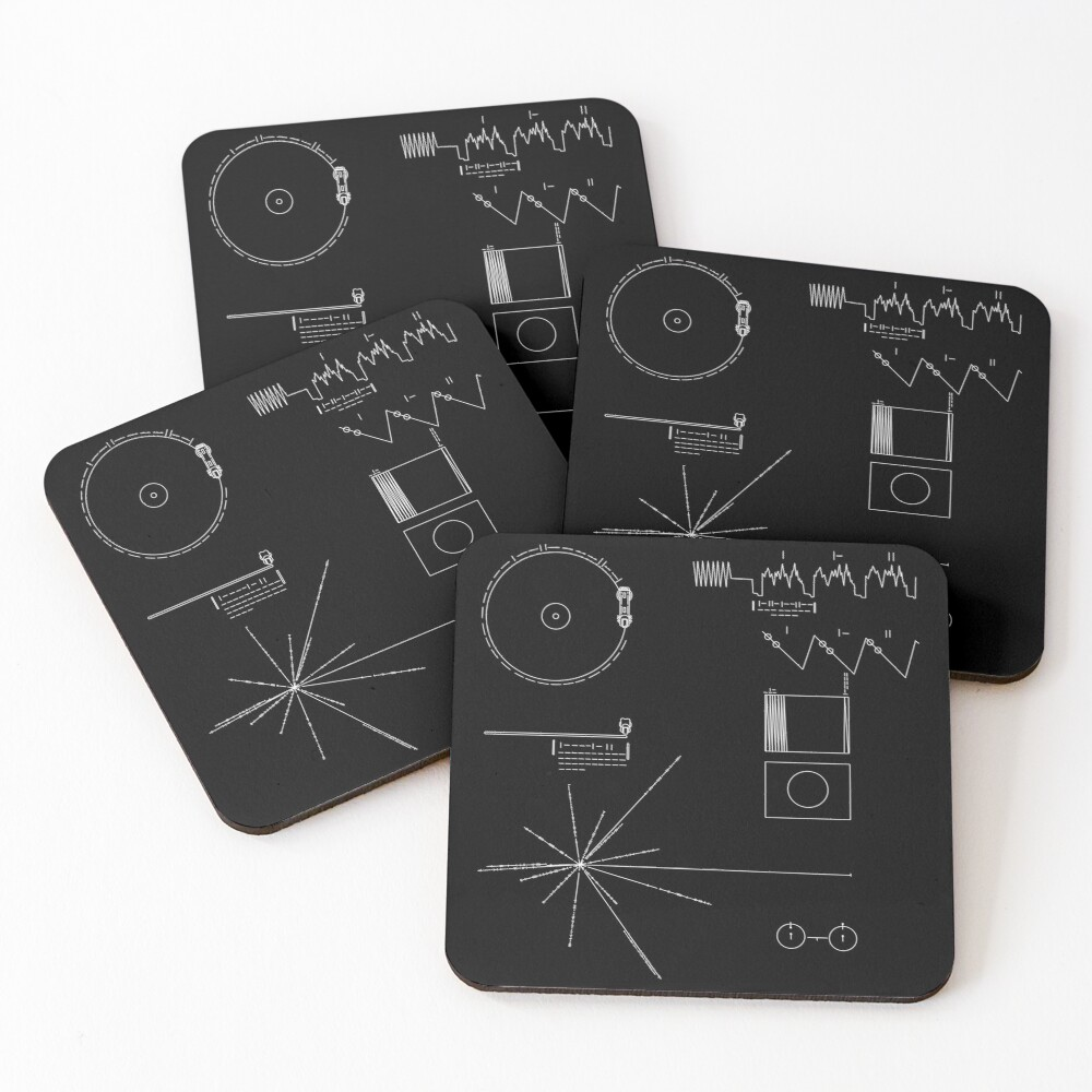 The Voyager Golden Record Coasters (Set of 4)