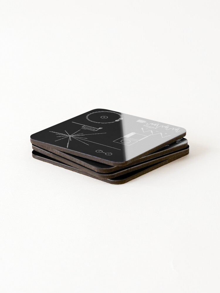 Alternate view of The Voyager Golden Record Coasters (Set of 4)