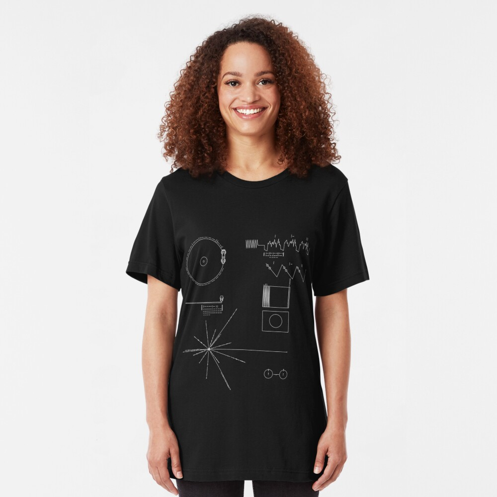 The Voyager Golden Record Slim Fit T-Shirt