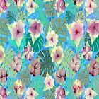 Cooles Violett-Indigo-Tropisch von RoxanneG