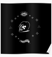 STICK AND POKE TATTOO CRYSTAL SKULL Poster