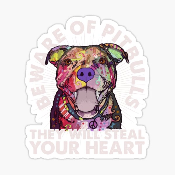 WARNING Sign Pit Bull On Board Funny Animal Loving Sticker Decal 2 Pk DND