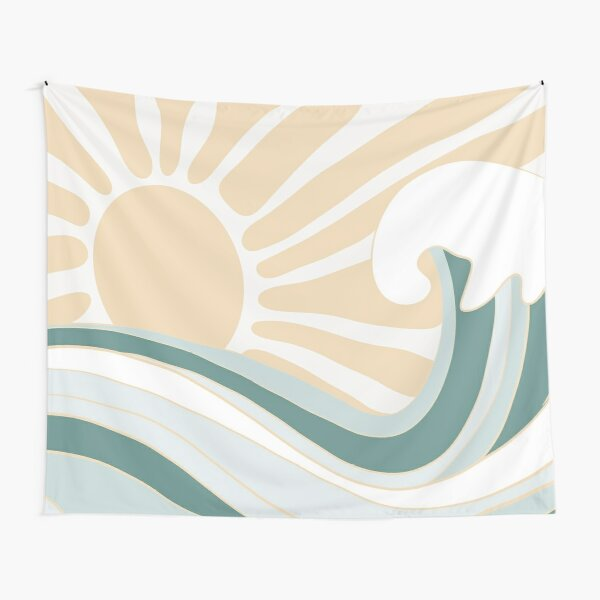 SUN AND WAVE Tapestry