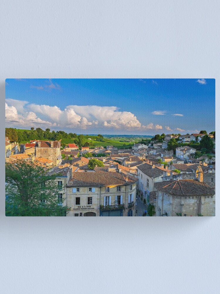 Alternate view of Saint-Emilion - Landscape from the Rooftops Canvas Print