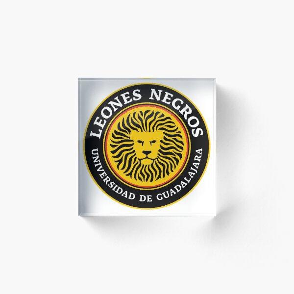 Leones Negros - UdeG - Club Universidad de Guadalajara, from Mexico Acrylic Block