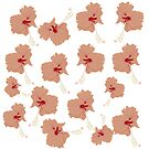«Flores de hibisco naranja» de Manitarka