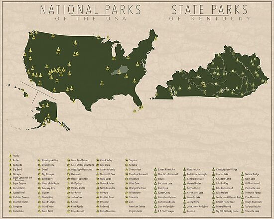 'US National Parks - Kentucky' Photographic Print by FinlayMcNevin on ky state park rangers, ky rivers map, ky mountains map, ky campgrounds map, ky tourism map, ky state police, ky climate map, ky state personnel, kentucky state map, ky county map, levi jackson state park map, ky golf courses map, ky weather map, kentucky parks map, ky casinos map, ky lakes map, belmont state park map, ky covered bridges map, kentucky campgrounds map, ky major cities map,