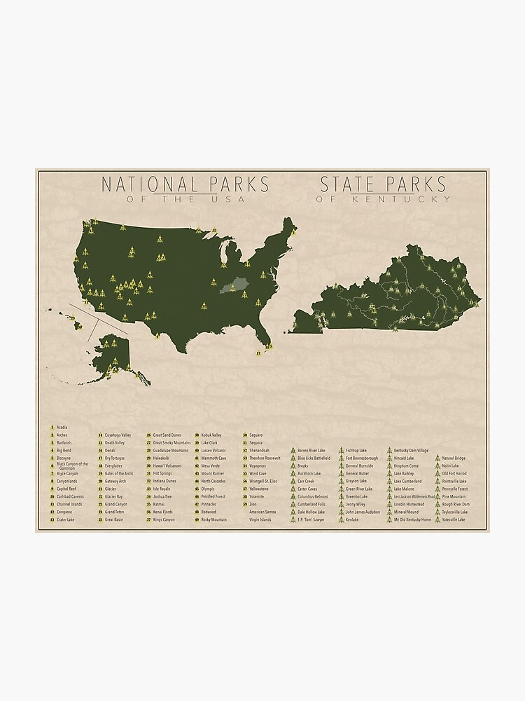 US National Parks - Kentucky   Photographic Print on kentucky marinas map, kentucky natural bridge state park, kentucky trails map, rolling fork kentucky river map, kentucky fishing map, kentucky wildlife map, ky state map, natural bridge state park map, kentucky forests map, belmont state park map, kentucky state campgrounds map, lake barkley state resort park map, kentucky national park map, kentucky state welcome, tennessee virginia and north carolina map, mississippi parks map, mammoth cave state park map, kentucky state rules, maryland parks map, kentucky state map printable,