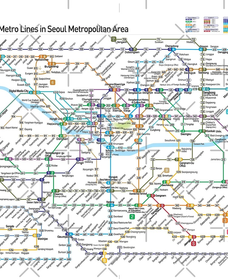 Seoul Metropolitan Subway Map Download.South Korea Seoul Metropolitan Subway Map English Hd Ipad Case Skin