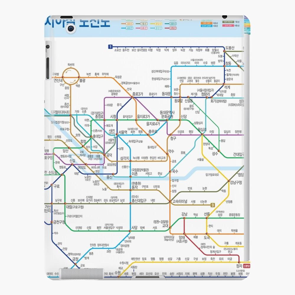 Seoul Subway Map Line 7.South Korea Seoul Subway Map Hangul Hd Ipad Case Skin