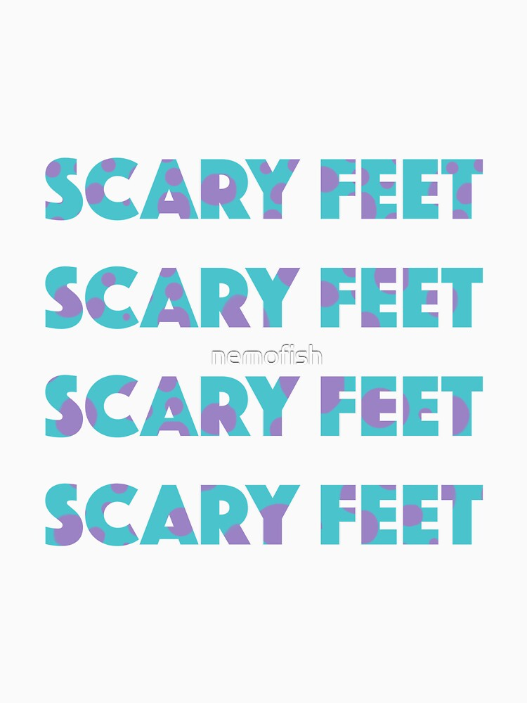 Sulley Scary Feet Monsters Inc Text von nemofish