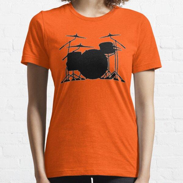 Drum set silhouette illustration Essential T-Shirt