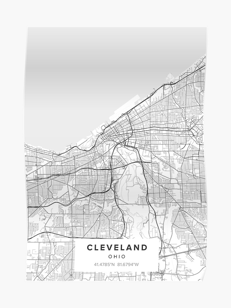 Cleveland Ohio Map | Poster on northeast ohio map, indianapolis indiana map, new york map, des moines iowa map, toledo ohio map, cuyahoga county ohio map, ashtabula ohio map, akron ohio map, stow ohio map, sandusky ohio map, lake erie, ohio counties map, mantua ohio map, utica ohio map, seattle washington map, northern ohio map, cincinnati ohio map, rock and roll hall of fame, kansas city, cleveland browns, geauga ohio map, mentor ohio map, lexington ohio map, hartville ohio map,