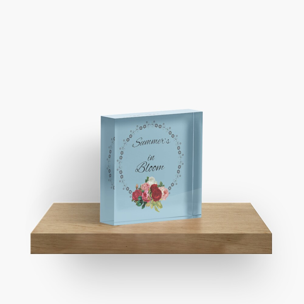 Summer's in Bloom Acrylic Block