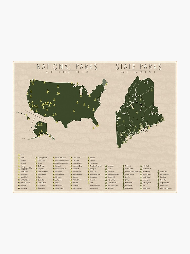 US National Parks - Maine | Photographic Print