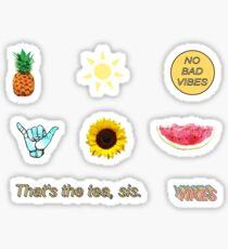 Sommer-Aufkleber, Sommer Aufkleber Pack Aufkleber, gelbe Aufkleber Pack Sticker