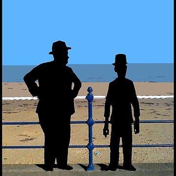 LAUREL und HARDY: Vintage Silhouette Print von posterbobs