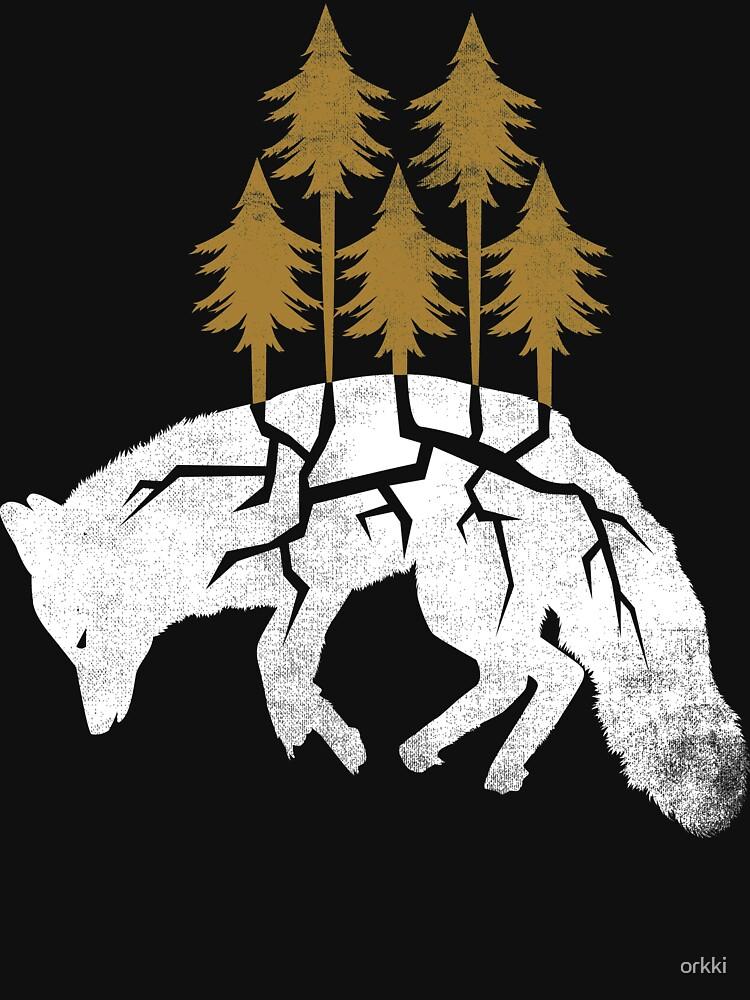 Dying Fox   Unisex T-Shirt
